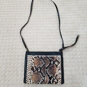 Kooba Crossbody Nugget Python Black Leather